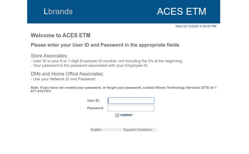 Aces Etm Login Associate Resources Limited Brands Login Website District Chronicles